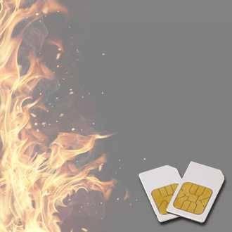 Chipkarte FEUER-DÄMPFUNG für Zapper Diamond Shield nach Hulda Clark
