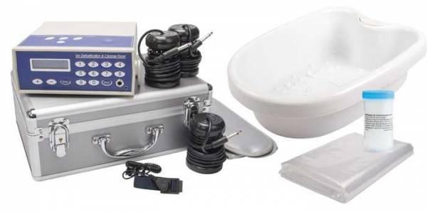 Vorschau: Elektrolyse Detox Fußbad Gerät Ion Cleanser - bequem entgiften