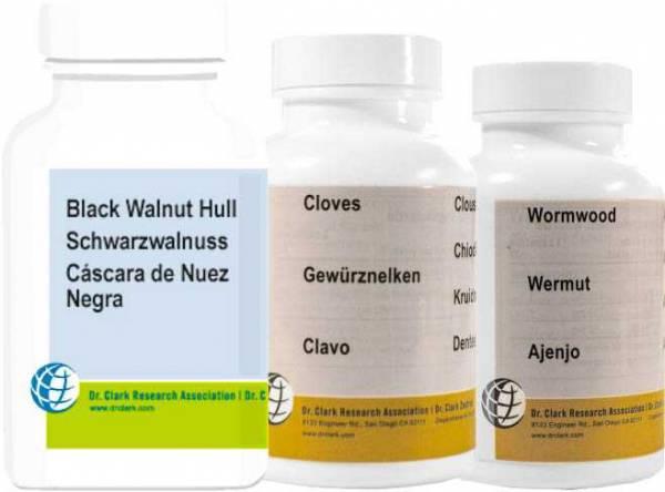 Parasitenkur von Dr. Hulda Clark - jetzt auch als Kapseln