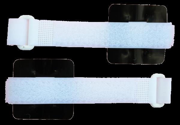 Paar Handgelenk-Manschetten für Zapper K100 und Frequenzgenerator MiniFG nach Hulda Clark