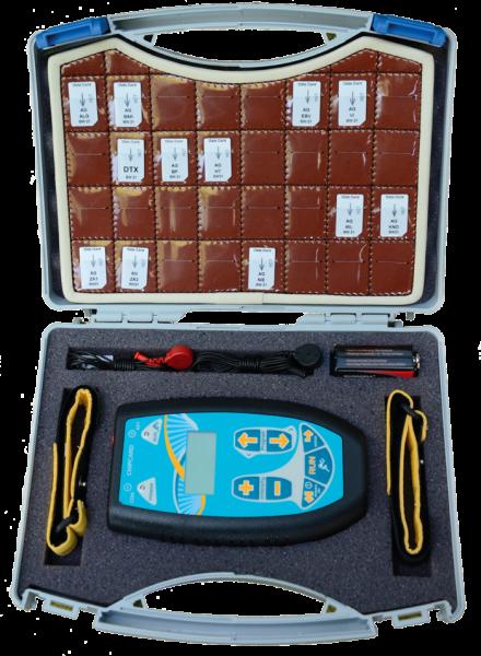Vorschau: Lederfach für 32 Frequenzchipkarten mit Zapperkoffer