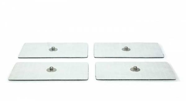 Paar grosse Klebe-Elektroden für Zapper und Frequenzgenerator