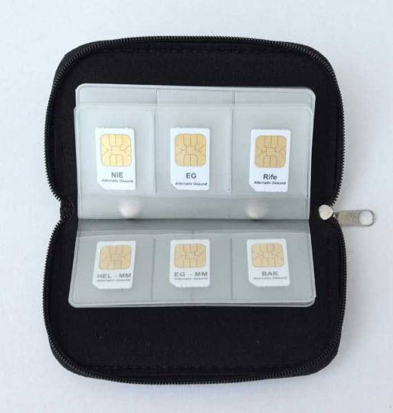 Vorschau: Aufbewahrungs-Etui offen für bis zu 22 Frequenz-Chipcards für Zapper