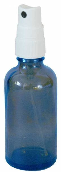 Sprühflasche 50ml aus Blauglas mit Sprühaufsatz