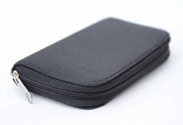 Vorschau: Aufbewahrungs-Etui geschlossen schwarz für bis zu 22 Frequenz-Chipcards für Zapper