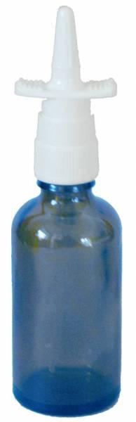 Nasenspray-Flasche aus Blauglas mit Sprühaufsatz - 50ml